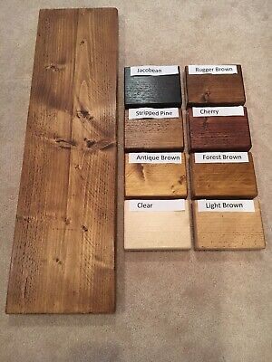 RUSTIC Waxed Scaffold Boards - Rustic Shelves - 17 SIZES - Industrial wood shelf