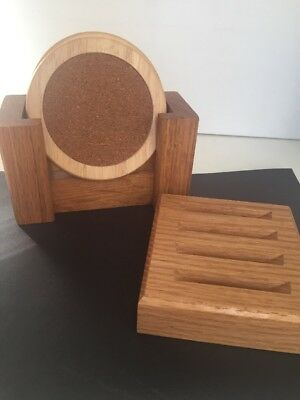Wooden Set Of 2 Coaster Holders ~NEW~