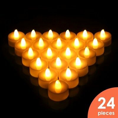 Valentines Day Candles Flameless Light LED Candle Set 24 PACK