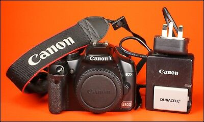 Canon EOS 450D Digital SLR Camera Body Sold With Battery, & Charger 4,622  Shots