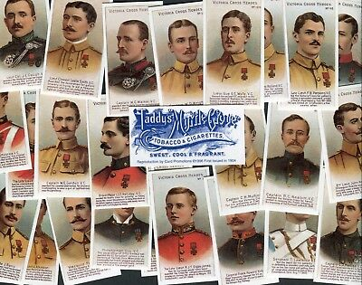 Card Promotions 1996 Set 20 Taddy Victoria Cross Heroes 61-80 Cigarette Cards