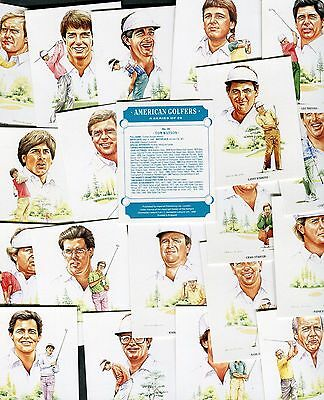 "Imperial Publishing 1990 Set Of 20 ""american Golfers"" Cigarette Cards Sealed"