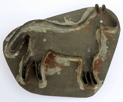 Antique Rare 19Th Century Large Horse Cookie Cutter With Handle Aafa