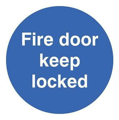 SIGN FIRE DOOR KEEP LOCKED Personal Protection & Site Safety Signs