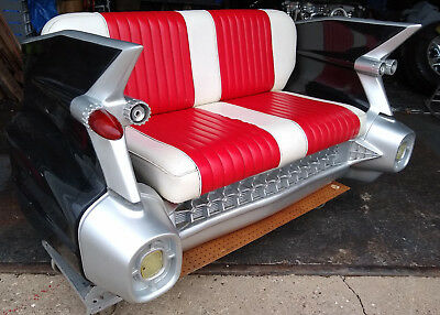 1959 Cadillac Couch Sofa Loveseat Car Auto Trunk Man Cave Shop Collectable