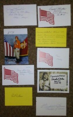 WW II Heros Autographs collection lot