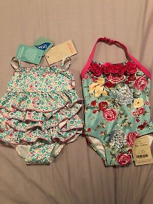 2 Monsoon Swimming Costumes 6-12mths. BNWT