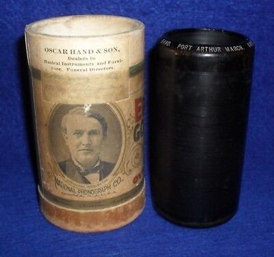Edison 2M Cylinder Record # 8927 PORT ARTHUR MARCH -  BAND - FUNERAL DIRECTORS
