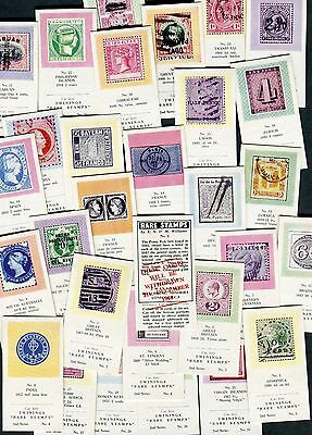 "Twinings Tea 1961 Set Of 25 ""rare Stamps"" 2Nd Series Red Overprint Trade Cards"