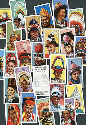 "Ringtons Tea 1973 Set Of 25 ""head-Dresses Of The World"" Tea Cards"