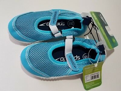3715c351f76b Speedo Toddler Girls Mary Jane Water Shoes Hook   Loop Closure -Blue    White NWT