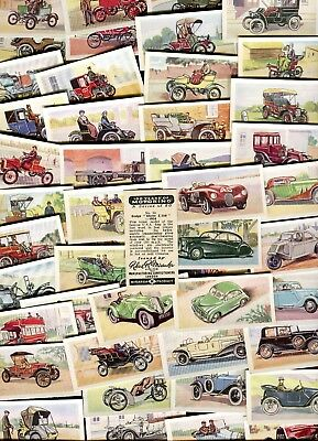 "Miranda Confectionery 1955 Set Of 50 ""100 Years Of Motoring"" Trade Cards"