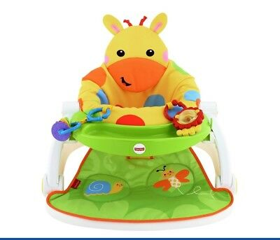 Fisher Price Giraffe, Sit-Me-Up Soft Floor Seat with Tray Portable Baby Seat