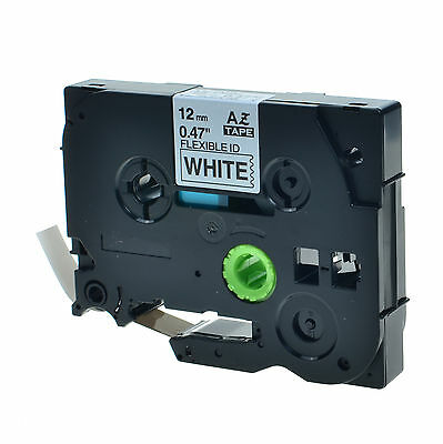 """20PK TZFX231 TZeFX231 Black on White Label Tape For Brother P-Touch 12mm 1/2"""""""