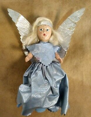 Antique Christmas Angel Tree Top Topper Composition Doll