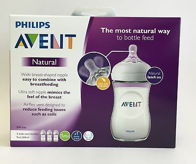 PHILIPS Avent 3 Pack 9oz Natural BPA free Baby Bottles - SCF013/37