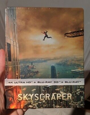 Skyscraper - Limited Edition Steelbook (Blu-ray 2D/3D + 4K UHD) BRAND NEW!!