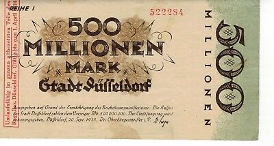 German Antique  Banknote - Düsseldorf
