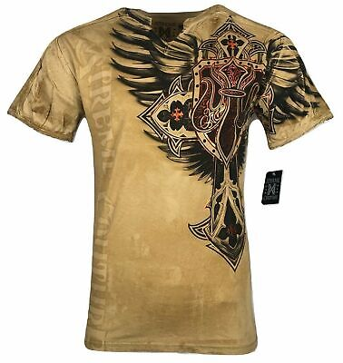 XTREME COUTURE by AFFLICTION Men T-Shirt LOCKDOWN Tatto Biker MMA UFC S-2X $40