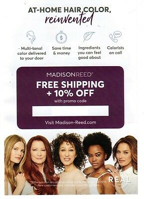 MADISON REED PROMO CODE COUPON CERTIFICATE - HAIR COLOR - HURRY!! Exp 3/31/19