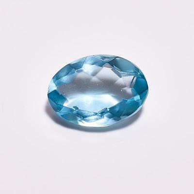 Sky Blue Topaz Oval Cut Faceted Gemstone 8.95 Ct. Ks-3312