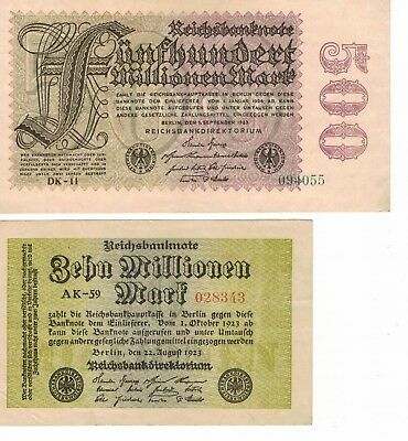 Germany- Reichsbanknoten