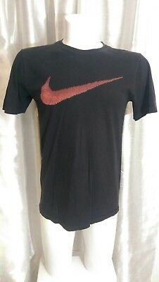 acf8f23d4528e FADED NIKE T Shirt with large Red SWOOSH LOGO mens M 38