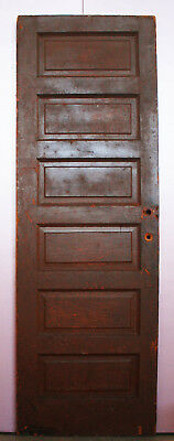 "30""x89"" Antique Vintage Interior Solid Wood Wooden Door 6 Recessed Panel"