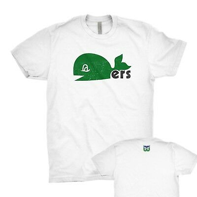 Hartford Whalers vintage pucky T-shirt old time hockey tee Next Level