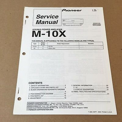 Pioneer Service Manual Order No. RRV2382 M-10X 22 Pages