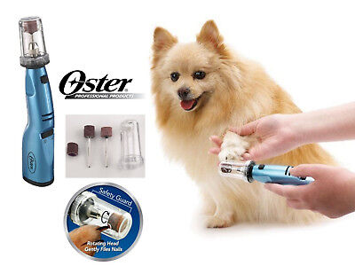 OSTER PET Dog Cat CORDLESS Grooming Gentle Paws NAIL Claw Trimmer GRINDER SET d