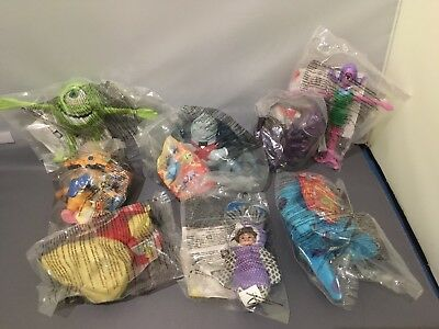 Monsters Inc McDonalds Happy Meal Toys - Year 2002 - Sealed - Set Of 8