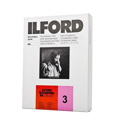 Ilford Ilfospeed Rc 10 2/12ft Deluxe Glossy 100 Sheet 5x7in 5 1/8x7 1/8in