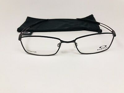 b2cedc991d New Oakley OX5071-0152 Satin Black Titanium COIN Eyeglasses 52mm with Oakley  Bag