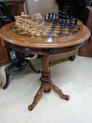 Victorian Chess / Games Table