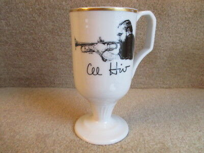 Shenango China Pedestal Mug with Al Hirt Playing the Trumpet Signed Al Hirt