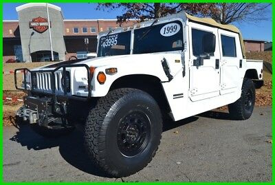 "1999 Hummer H1 TRUCK 87K MILES! CLEAN! UPGRADES! SERVICED! 80 PICS / WAT 6.5L DIESEL NEW TRANS 4X4/2WD TRANSFER CASE UPGRADED AUDIO NEW 37"" BFG KO TIRES!"
