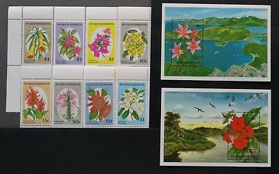 Antigua Barbuda 1993** Mi.1743-50 + Bl.255, 256. Flowers [13;99]