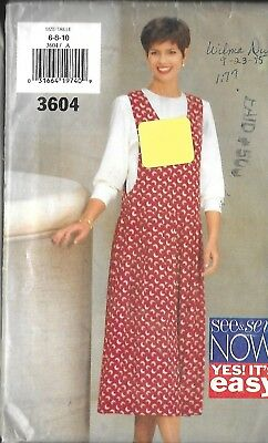 Butterick See & Sew  Pattern 3604 Sz 6-10 Jumper and Top Uncut Factory Folded