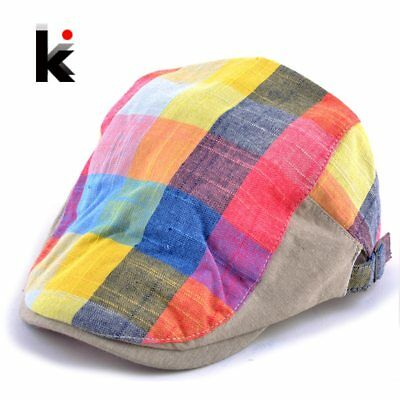 2018 Spring and Autumn Fashion boina hats for women newsboy caps Plaid beret