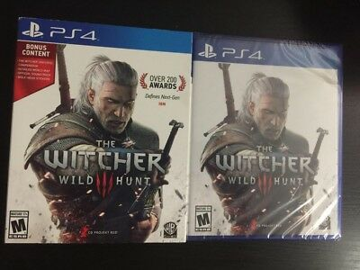 The Witcher 3: Wild Hunt PS4 w Bonus Content Soundtrack, Wolf-Head Stickers, MAP