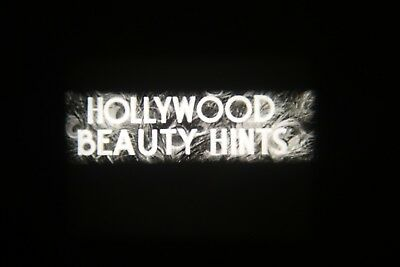 16MM FILM. b/w sound. HOLLYWOOD BEAUTY HINTS. 1932. 400ft reel & can.
