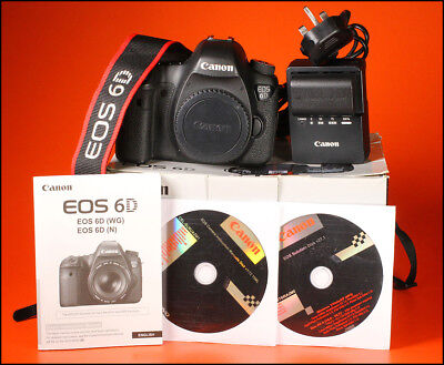 Canon EOS 6D 20MP Digital SLR Camera,+ Battery, Charger, Manual, Software & Box
