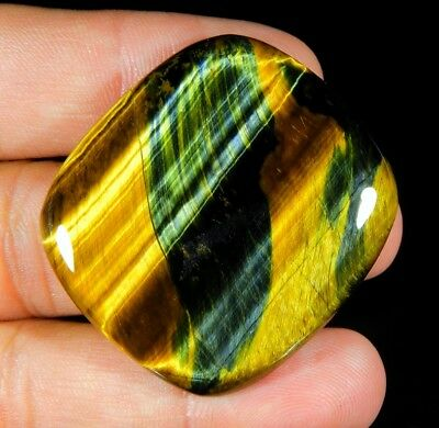 96 Ct Huge Natural Blue Pietersite Fire Tiger Eye Octagon Cabochon Gemstone B274
