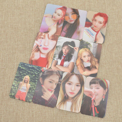 10pcs Fans Kpop Red Velvet Photocard Album Paper Lomo Photo Card HandCraft Gift