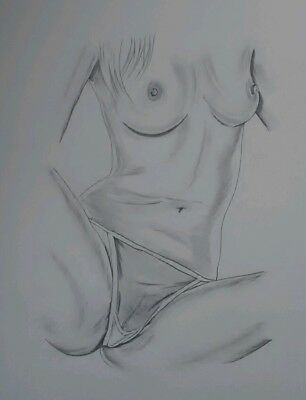 *All NEW* anythingartwork NUDE ART Original /Pencil Sketch/Drawing A3 Signed