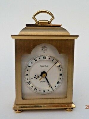 Vintage Swiza Small Mantel Quartz Clock.