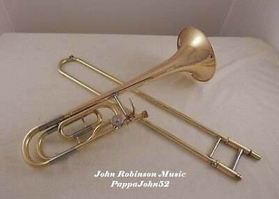 YAMAHA YSL-448G LG BORE TENOR TROMBONE w/F RESTORED w/ new baked lacquer  finish