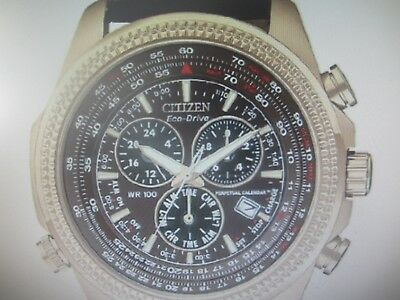 Citizen Eco-Drive Men's Watch Alarm Chrono All S/s Perpetual Cal Bl5403-03X New