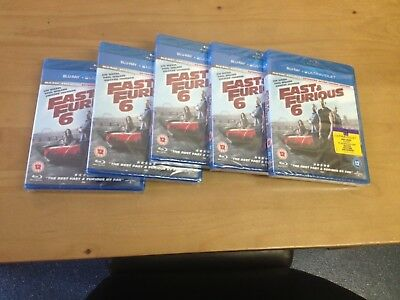 5X Fast and Furious 6 Blu-ray Brand NewSealed Car boot Job Lot Bundle Car Resale
